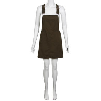 View Item Khaki Pinafore Dress